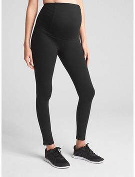 Ingrid And Isabel® Crossover Panel Zip Leggings by Gap