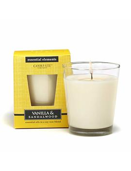 Candlelite Essential Elements 9 Ounce Boxed Jar Candle With Soy Wax, Vanilla And Sandalwood by Candlelite