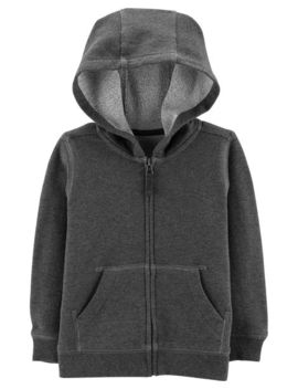 Marled Yarn Zip Up Hoodie by Carter's