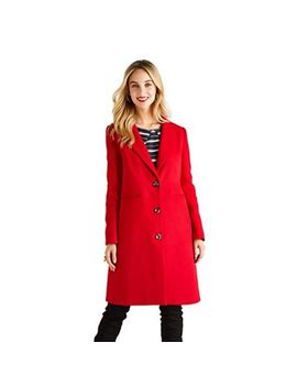 Yumi   Red Button Up Crombie Coat by Yumi