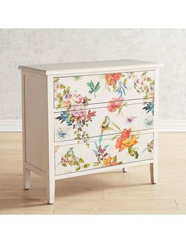 White Floral 3 Drawer Chest by Pier1 Imports