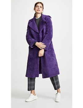 Edit Trench Shearling Coat by Anne Vest