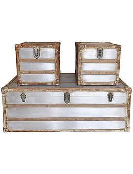 Steamer Trunk Coffee And Side Table by Moe's Home Collection