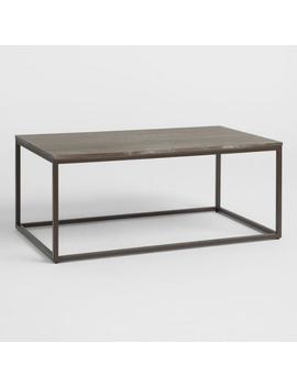 Graywash Wood And Metal Keenan Coffee Table by World Market