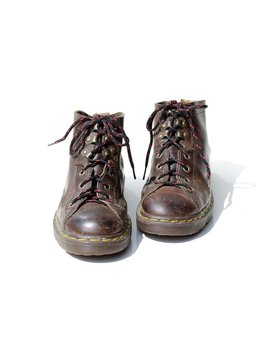 Vintage Brown Leather Ankle Boots. / Size 7.5 by Tanaka Vintage