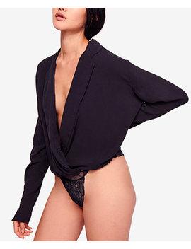 Elsa Deep V Neck Lace Bottom Bodysuit by Free People