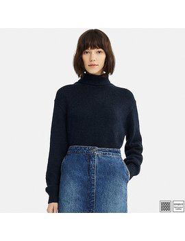 Women Uniqlo U Melange Turtle Neck Sweater by Uniqlo