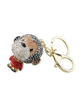 Foy Mall Fashion Monkey Crystal Rhinestone Alloy Women Car Or Bag Keychain Key Ring Favors H1044 by Foy Mall