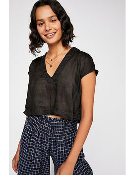 Sunshine Linen Crop Top by Free People