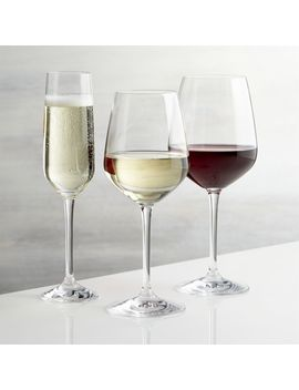 Nattie Wine Glasses by Crate&Barrel