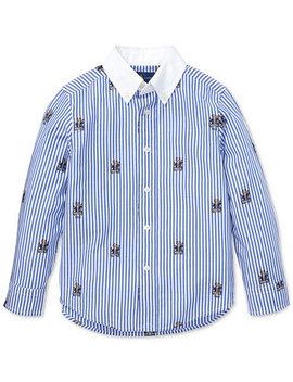 Toddler Boys Plaid Cotton Poplin Shirt by Polo Ralph Lauren