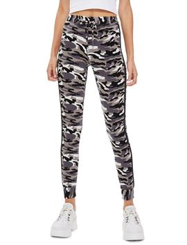Skinny Camouflage Jogger Pants by Topshop