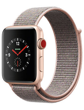 (Gps + Cellular),  42mm Gold Aluminum Case With Pink Sand Sport Loop by Apple Watch Series 3