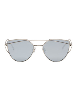 Silver & Blue Love Punch Sunglasses by Gentle Monster