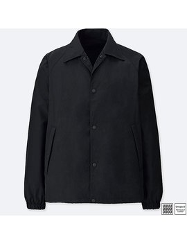 Men Uniqlo U Pocketable Coach Jacket by Uniqlo