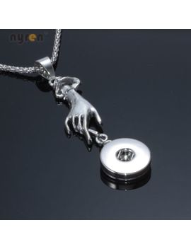 Multi Styles Snap Pendant Necklace 20mm Fit 18mm Snap Button Diy Snap Jewelry by Nyren Jewelry
