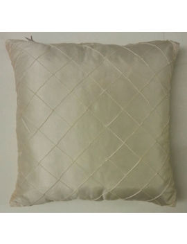 "New 18"" X 18"" Cushion Covers Silk Satin Fabric Cream Lilac & Gold ~ Free P&P !! by Ebay Seller"
