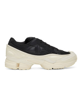 Black & White Adidas Originals Edition Ozweego Sneakers by Raf Simons