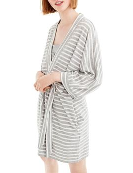 Stripe Stretch Cotton Robe by J.Crew