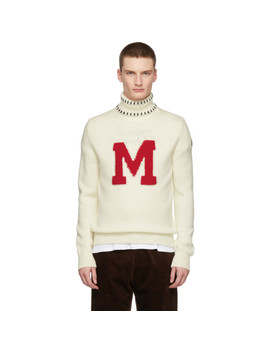 White Graphic Maglione Turtleneck by Moncler Genius