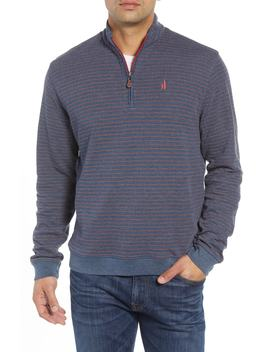Emmett Stripe Quarter Zip Pullover by Johnnie O