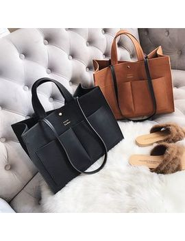 Ginadore   Faux Suede Tote by Ginadore