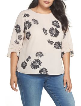Chateau Floral Georgette Top by Vince Camuto