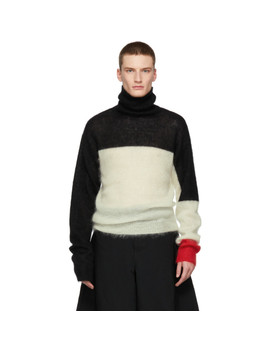 Black & White Mohair Turtleneck by Landlord