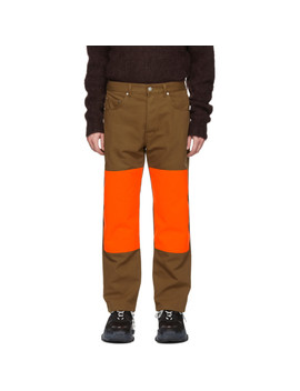 Brown & Orange Corner Trousers by Études