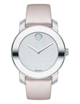 Women's Swiss Bold Blush Leather Strap Watch 36mm by Movado