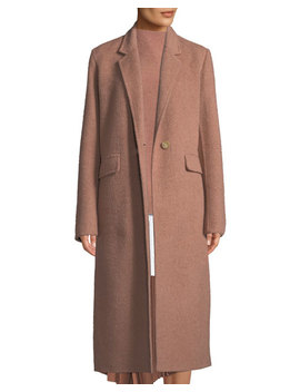 Single Button Wool Long Coat by Vince