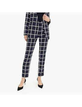 French Girl Slim Crop Pant In Windowpane 365 Crepe by J.Crew