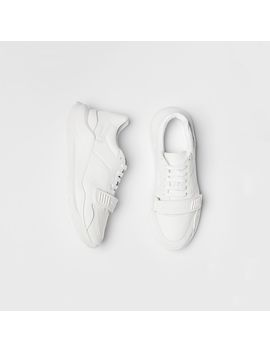 Suede, Neoprene And Leather Sneakers by Burberry