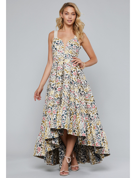 jacquard-ruffled-ball-gown by bebe