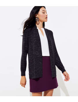 Spacedye Knit Open Cardigan by Loft