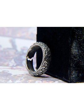 Sterling Silver Dragon Scales Ring Inspired By Game Of Thrones /  Targaryen Ring / Resizable Dragon Ring by Chainmaille My Hearts