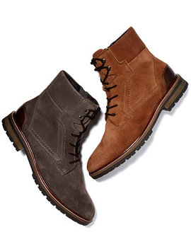 Men's Whitaker Suede Boots, Created For Macy's by Bar Iii