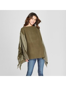 Women's Plaid Cocoon Poncho Sweater   Universal Thread™ by Universal Thread™