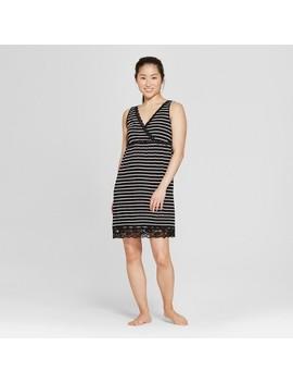 Lamaze Women's Striped Nursing Nightgown   Black Thin Stripe by Lamaze