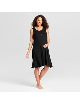 Maternity Short Sleeve Nursing Henley Nightgown   Isabel Maternity By Ingrid & Isabel™ by Isabel Maternity By Ingrid & Isabel