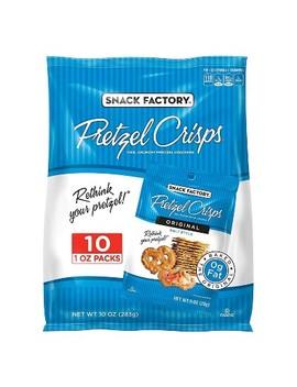 Snack Factory Original Flavored Pretzel Crisps Crackers   1oz/10pk by Pretzel Crisps