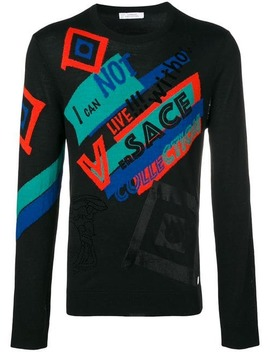 Versace Collectioncrew Neck Logo Sweaterhome Men Versace Collection Clothing Knitted Sweaters by Versace Collection