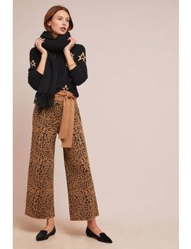 Leopard Sweater Pants by Moth
