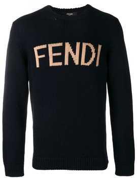 Fendilogo Knit Sweaterhome Men Fendi Clothing Knitted Sweaters by Fendi