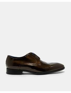 Patent Leather Derby Brogues by Ted Baker