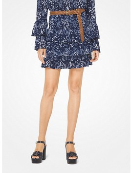 Floral Ruffled Skirt by Michael Michael Kors