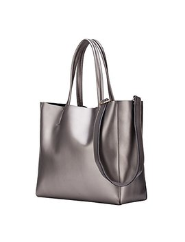 Keepblance Women's Leather Handbags Soft Shoulder Bags Totes Large Capacity by Keepblance