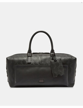 Embossed Leather Holdall by Ted Baker