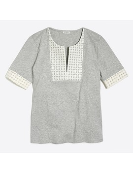 Embroidered Eyelet T Shirt by J.Crew