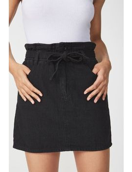 Paperbag Denim Skirt by Cotton On